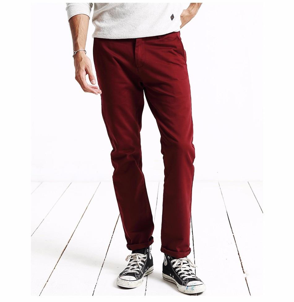 HTB1437ZXh2rK1RkSnhJq6ykdpXaN Simwood Brand Autumn Winter New Fashion 2019 Slim Straight Men Casual Pants 100% Pure Cotton Man Trousers Plus Size KX6033