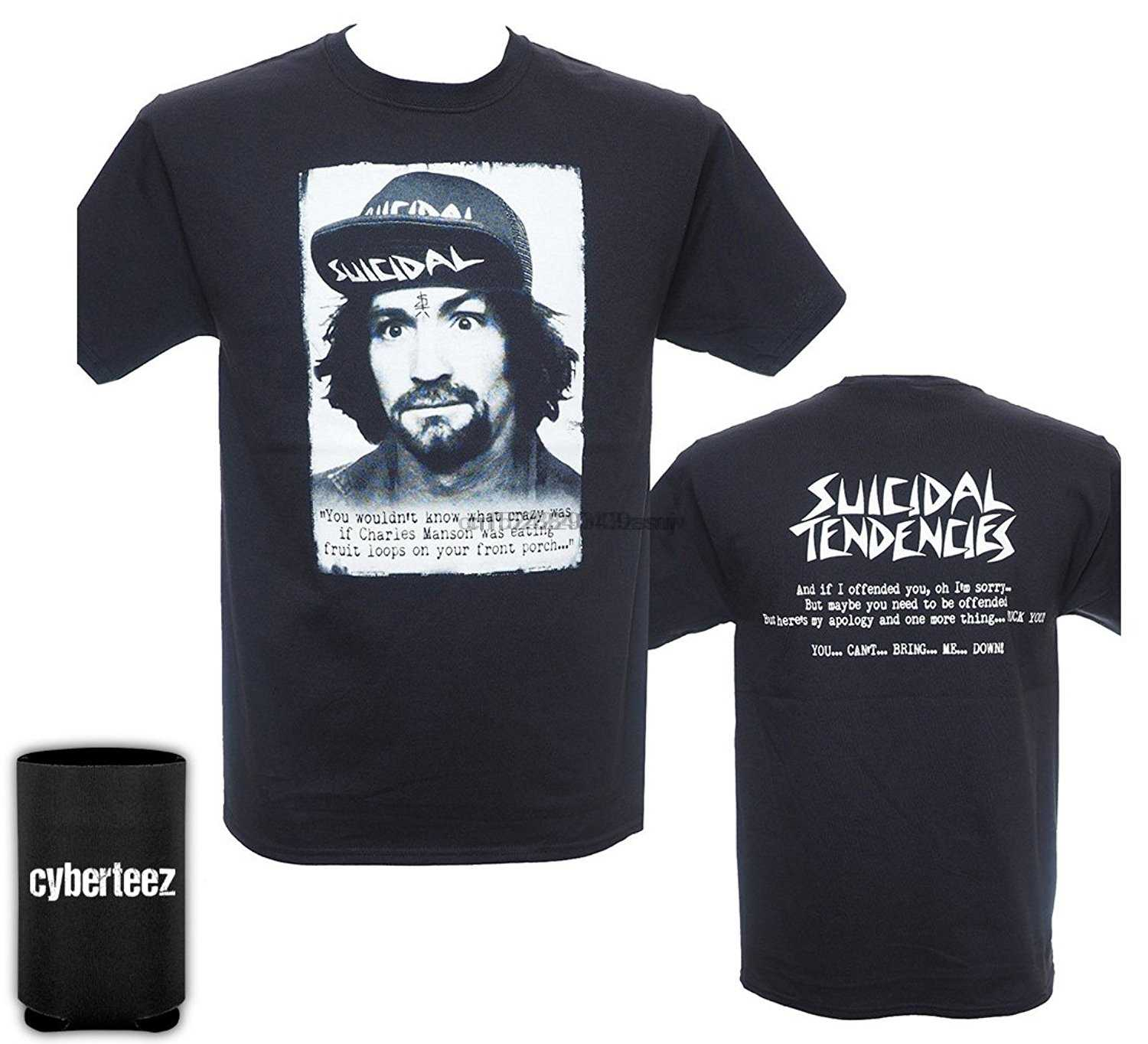 Cotton T-Shirt Fashion T Shirt Free Shipping Suicidal Tendencies Charlie Charles Manson Men' T-Shirt + Coolie (S-3XL)