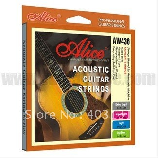 Acoustic Guitar Strings Set 010-047 / 011-052 / 012-053 / 013-056 Hexagonal Core Strings Set for Your Choice