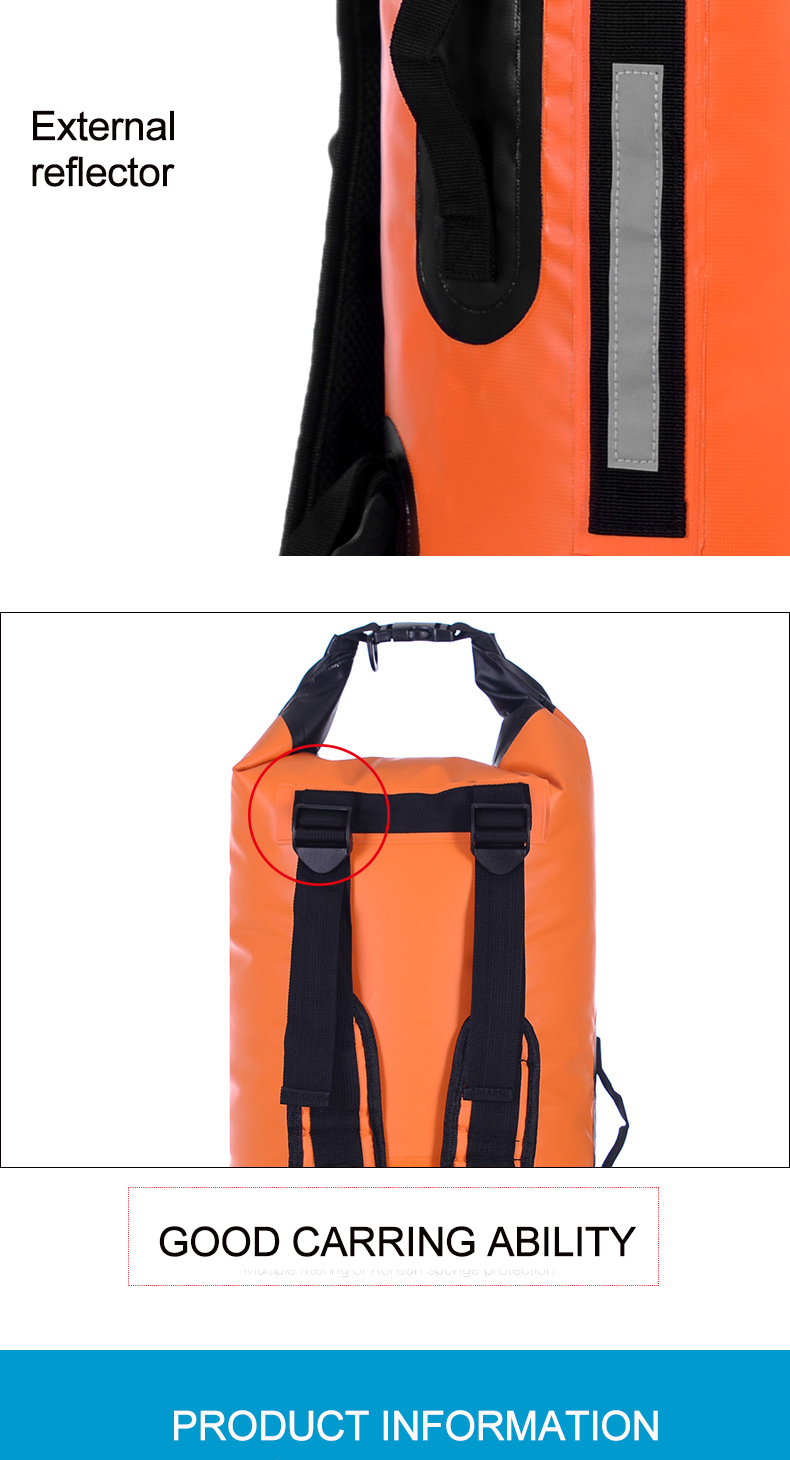 Topdudes.com - 40L Dry Bag with Double Shoulder Straps