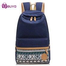 Рюкзак для студентов, тинейджеров. Холщовый рюкзак с принтом под ноутбук. Женский рюкзак для путешествий Mochila.