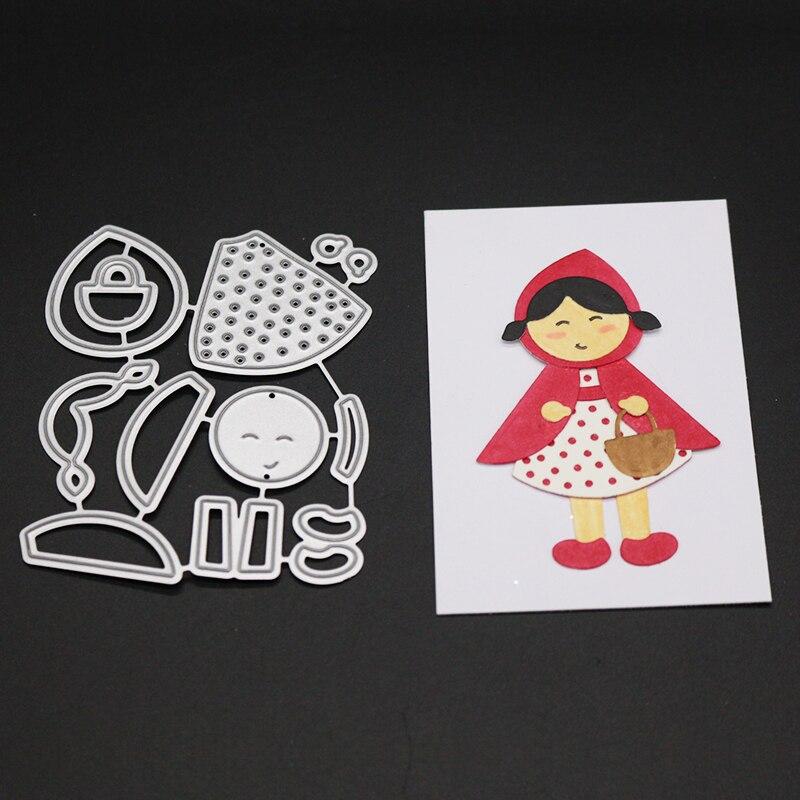 AZSG Happy little girl Cutting Mold DIY Scrapbook Album Decoration Supplies Clear Stamp Paper Card