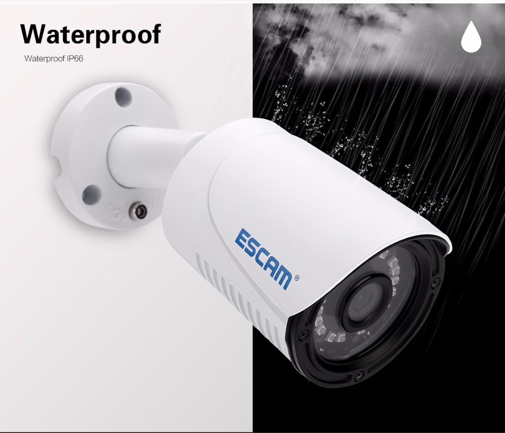 ФОТО Escam QE07 Metal Mini Bullet IP66 Waterproof Outdoor Cloud Infrared Night Vision Camera With POE Function