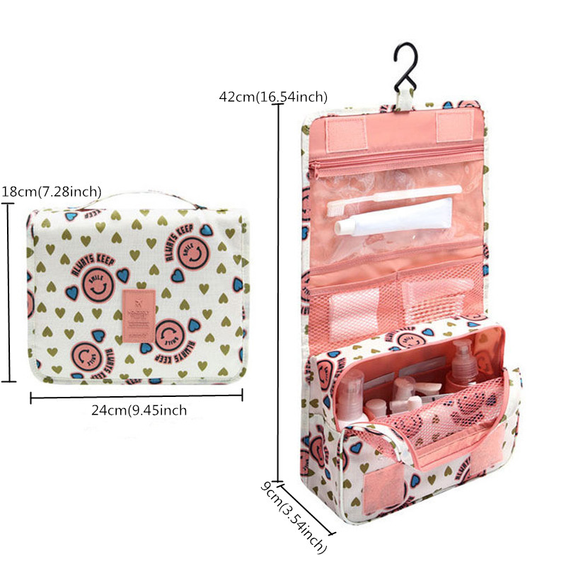 HHYUKIMI Hanging Toiletry Kit Clear Travel Storage Bag Cosmetic Carry Toiletry Pockets For Womens Gril Gift Traveling Bathroom
