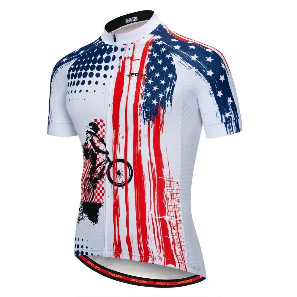 JPOJPO hombres Ciclismo Jersey MTB T camisa manga larga bicicleta monta/ña motocicleta Bicicletas ropa anti-UV