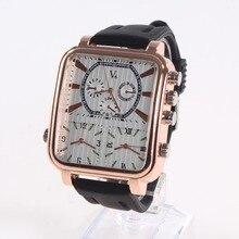 Модный квадратный люксовый бренд кварцевые Для мужчин Часы Relogio masculino бизнес Наручные часы популярные большой циферблат прямоугольник спортивные часы