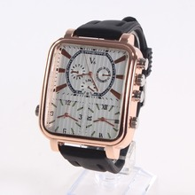 Мода площади люксовый бренд Кварцевые Мужские Часы Relogio Masculino бизнес Наручные Часы Популярные большой циферблат прямоугольник Спортивные часы