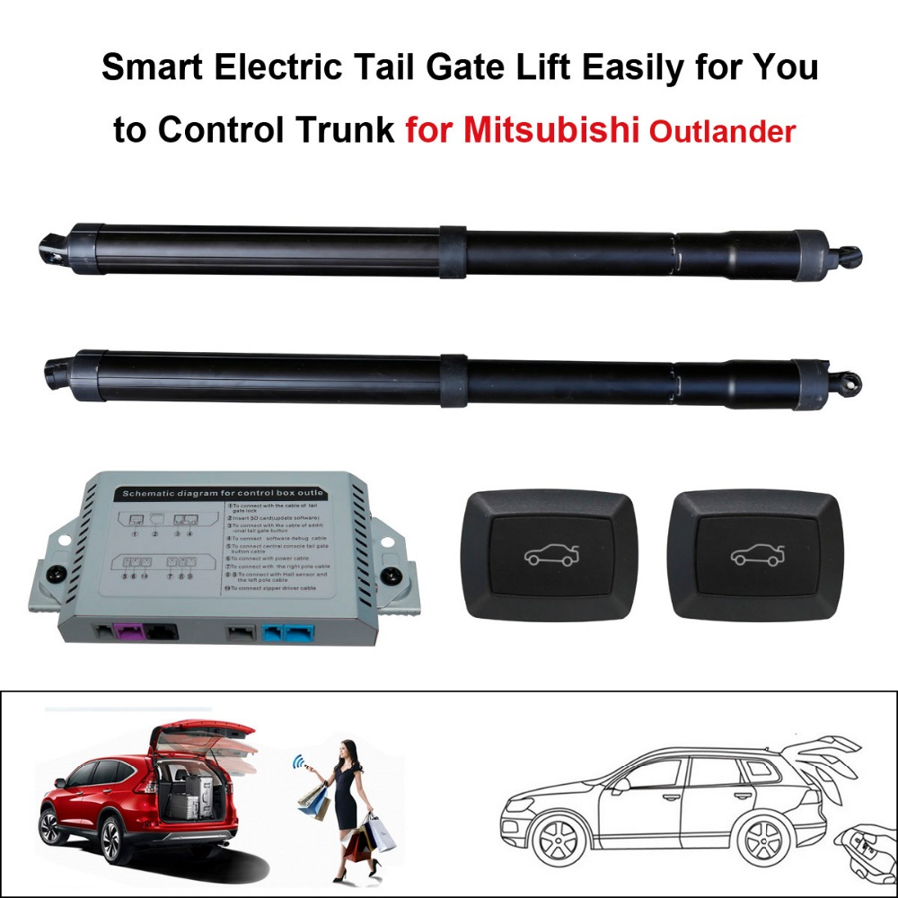 Smart Auto Electric Tail Gate Lift For Mitsubishi Outlander 2013-2016 Control Set Height Avoid Pinch With Electric Suction