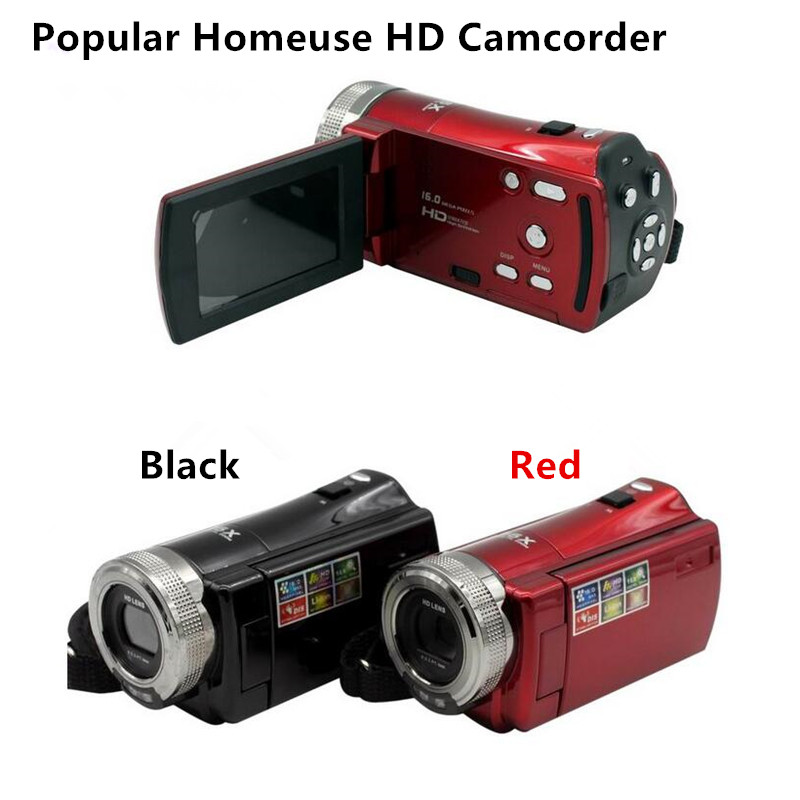 Newest Portable Camcorder Home Use HD Digital Video Camera 2.7 inches of TFT-LCD Displayer 16x Digital Zoom DV Camera Kit AF0053 hot sale easy use hd 720p 12m 8x digital zoom video camcorder camera gift for family happy recording 1pc