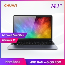 CHUWI HeroBook 14.1 inch Laptop Windows 10 Intel E8000 Quad Core 4GB RAM 64GB ROM Notebook
