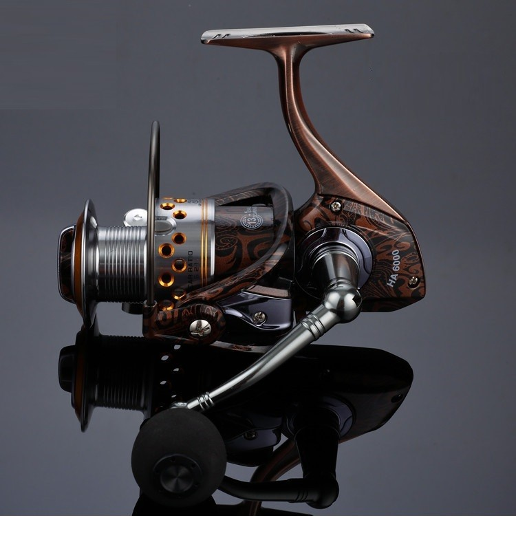 Corpo principal de metal molinetes para pesca nenhuma lacuna
