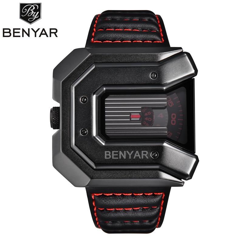 New BENYAR Business Quartz Watch men's top brand casual fashion leather 30M waterproof clock sports watch relogio masculino