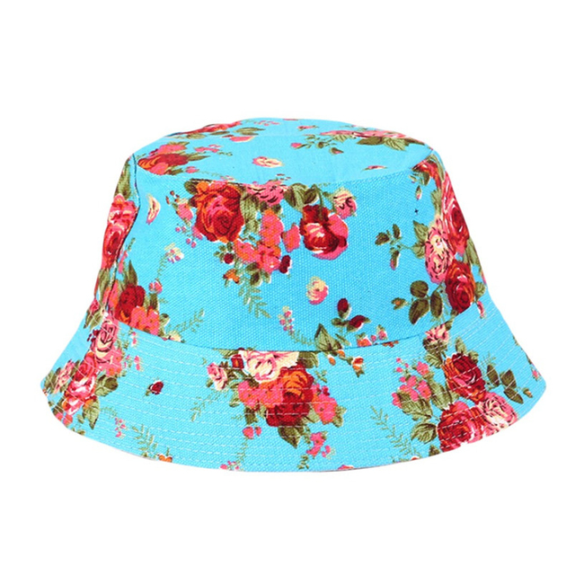 3a3da0727f0 Summer Ladies Floral Sun Hat hot outdoor Women fishing hat Bob letter  fisherman panama cap chapeau cotton bucket hat boonie hat