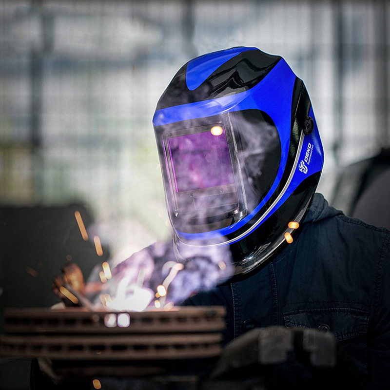 Deko mz232 solar powered capacete de soldagem escurecimento automático profissional capa ampla lente faixa de sombra ajustável 4/9 13 para mig tig - 6