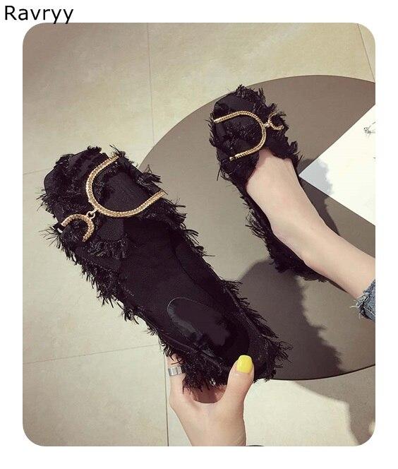 Automne Picture Talon Plume Bout Toe Partie Femelle Chaussures Noir Sexy Pompes Seule Mode Robe Picture Femme As Chaussure De Carré sur Bas Casual as Slip pxSwYzqn7