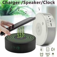 Qi Wireless Charger Bluetooth And NFC Speaker Music Player For IPhone X 8 For Samsung
