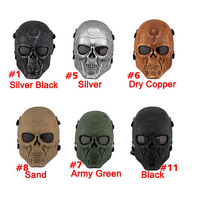 ABS Plastic Full Face Airsoft Paintball CS Terminator Mask Outdoors War Game Field Game  ...