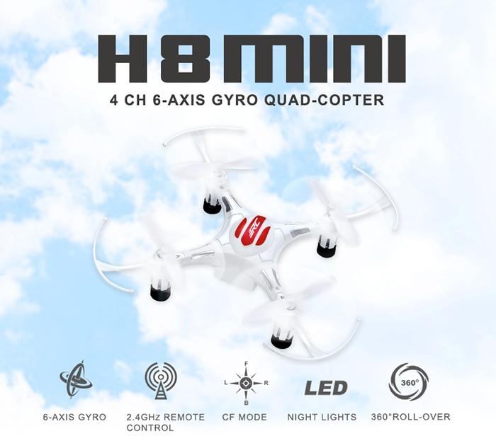 JJR/C JJRC H8 Mini Sans Tête Mode RC Quadcopter Hélicoptère 2.4G 4CH 6 Axes RTF Télécommande Jouet avec 3 pcs 3.7 V 150 mAh Batterie