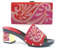 Nice Design Italian Sandal And Handbag Set To Match Fashion Women Shoes High Quality African Shoes