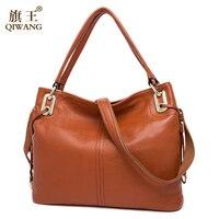 100 Real Genuine Leather OL Style Women Handbag Tote Bag Ladies Shoulder Bags Wholesale Price