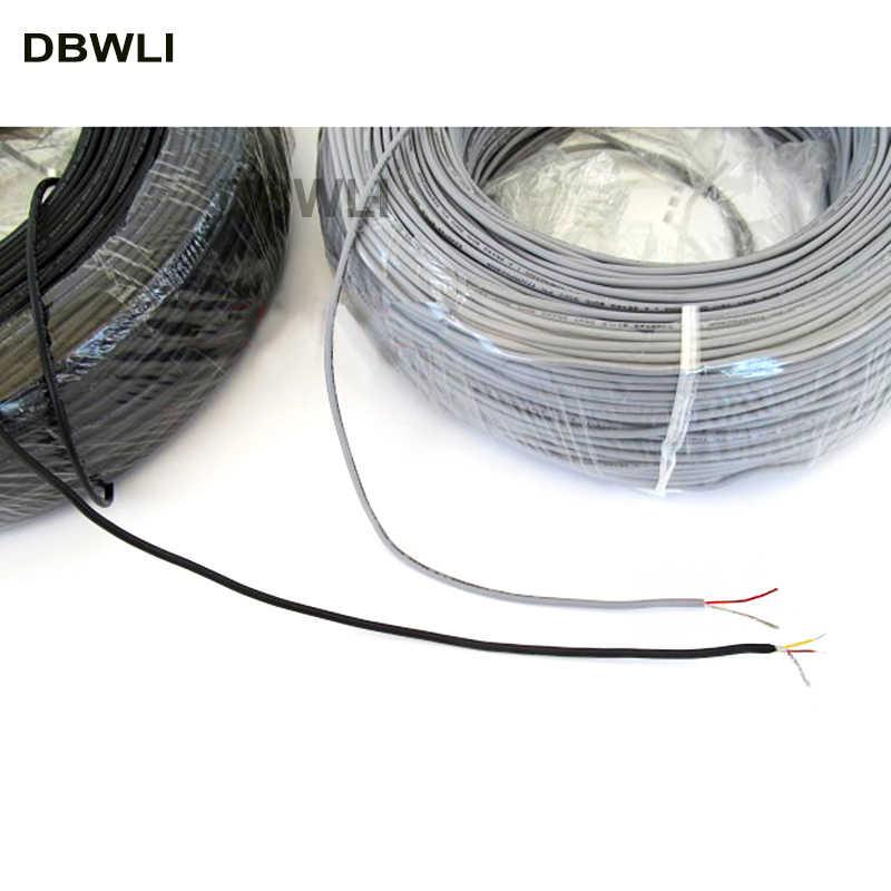 2 3 4 fils blindés UL 2547 26AWG 5 mètres 16.4 ft 2.1 canal Audio ligne signal câble bouclier fil pour amplificateur, noir gris