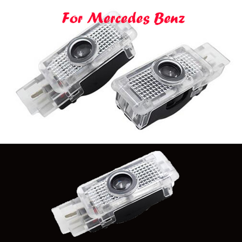 цены 2x LED Car Door Courtesy Laser Logo Projector Light For Mercedes Benz W203 C Class SLK CLK SLR
