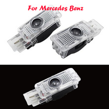 2x LED Car Door Courtesy Laser Logo Projector Light For Mercedes Benz W203 C Class SLK CLK SLR
