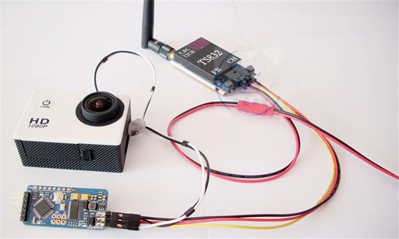 TS832 600 mW transmisor inalámbrico sistema PAL Servo 2 ejes cardán Cámara una máquina 7 800*480 RC732 DVR pantalla LCD TFT - 5