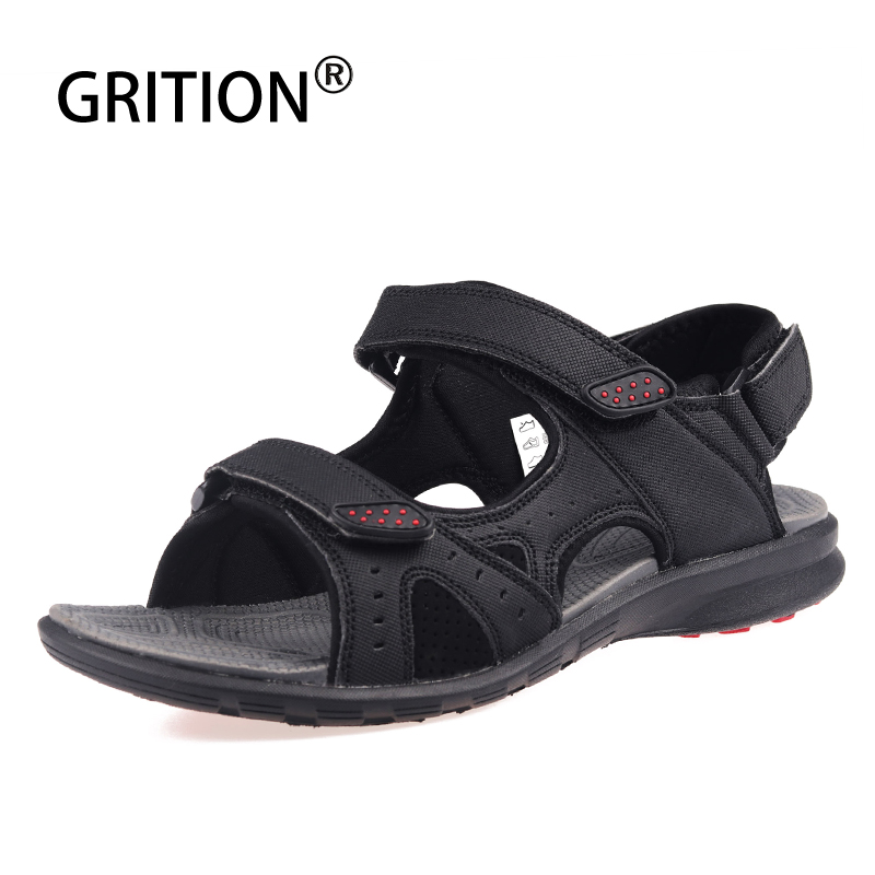 GRITION Men Sandals Beach-Shoes Flip-Flop-Slippers Open-Toe Comfortable Outdoor Male