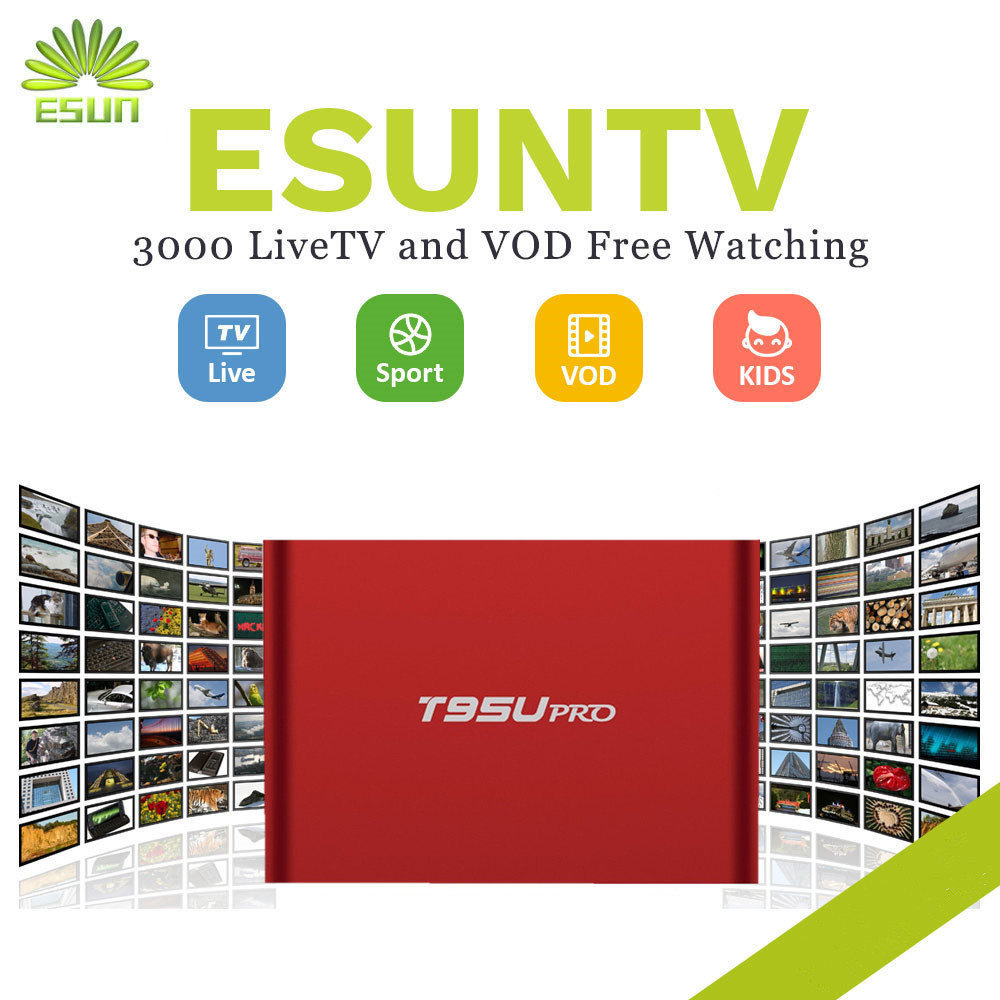 1 Year IPTV included T95U PRO Android IPTV Box 6.0 Smart TV Box Spain UK Germany Italy Netherland Sweden Portugal EX-YU xxx US italy iptv a95x pro voice control with 1 year box 2g 16g italy iptv epg 4000 live vod configured europe albania ex yu xxx