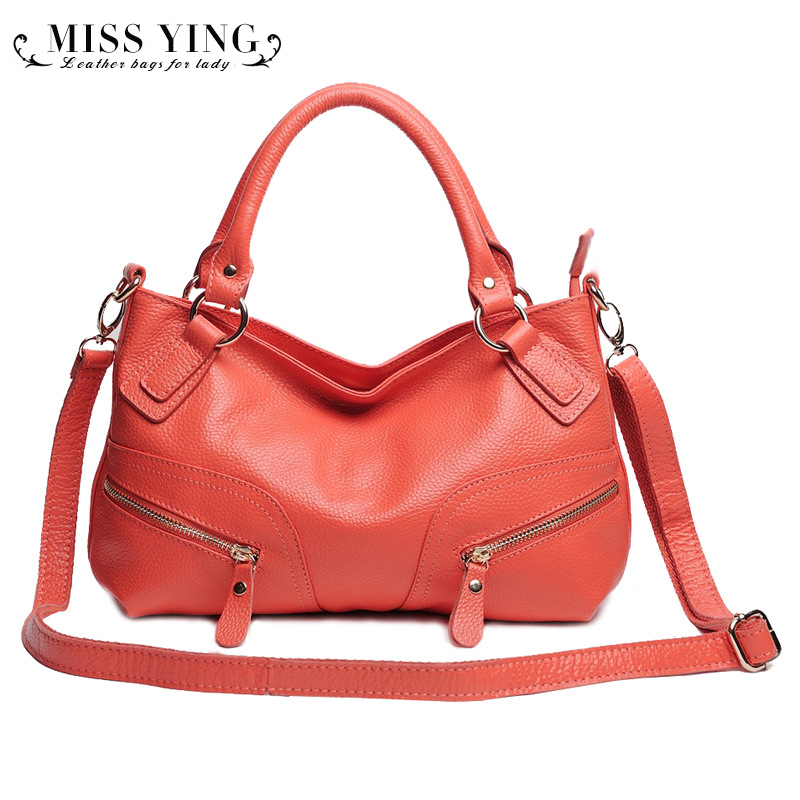 100% First Layer Cowhide Genuine Leather Women Shoulder Handbag Women Crossbody Handbags Famous Brands High Quality Bags Tote
