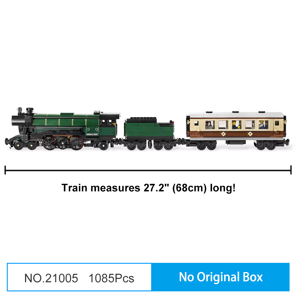 NEW 1234PCS Ultimate Maersk Train/&Emerald Night Set With Figures Building Blocks