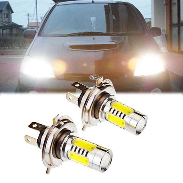 2pcs H4 Led Bulb Headlamp Bulb Car Work Light Car Auto Front