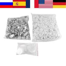 1000pcs Spille Badge Button 32 millimetri FAI DA TE In Bianco Spille Badge Button Parti di Materiali di Consumo per Pro Button Maker(China)