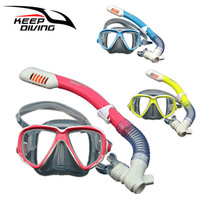 New Arrival Professional Full dry Snorkeling Mask with Breath Tube Foldable for children Snorkel Mask Silicone Diving Goggles