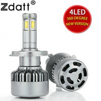 Zdatt Headlights Led H4 H7 H11 9005 H8 Bulb Light 12v 6000k 100w CSP Chip Leds