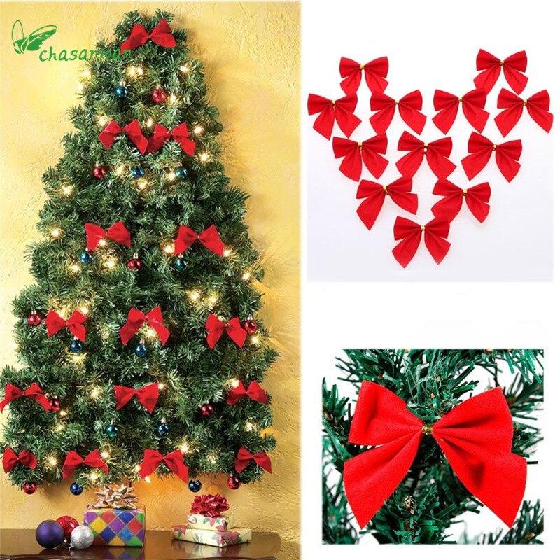 aliexpresscom buy 36pcs redgoldsilver bowknot christmas decorations for home christmas decoration bows christmas tree decoration navidad - Red Gold And Silver Christmas Decorations