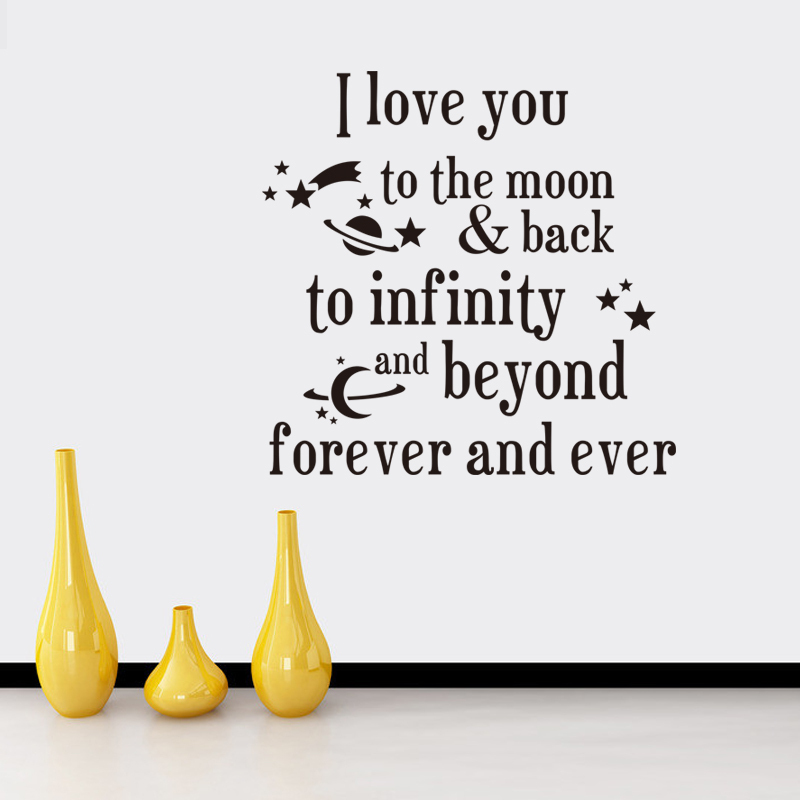 Buy i love you to the moon and back wall decals quotes romantic love ...