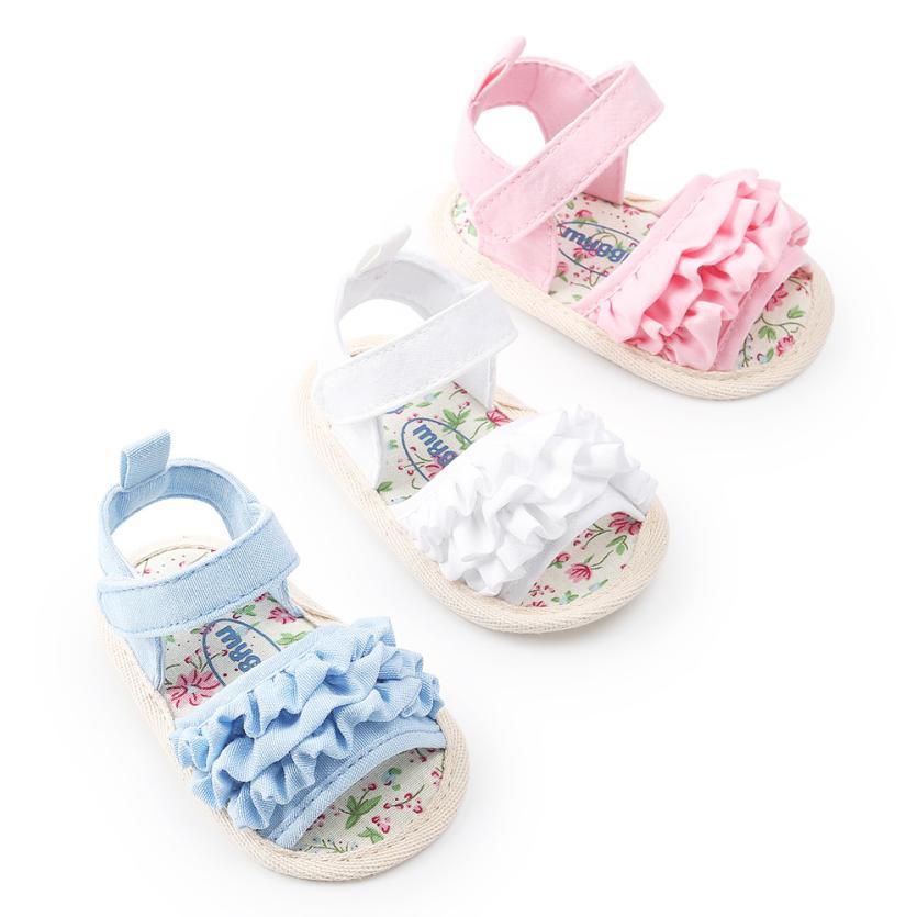 TELOTUNY Baby Girls Sandals Summer 2018 Baby Flower Sandals Shoe Casual Shoes Sneaker Anti-slip Soft SoleToddler Shoes  Uk M21