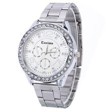 Women's Steel Watch Silver Gold Rose Gold Color Fashion Rhinestone Plated Bracel