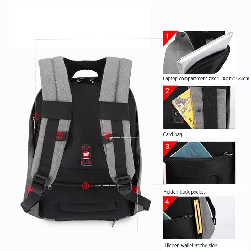 Tigernu Anti theft 15.6inch Laptop Backpack Men Women USB Backpack Male Mochila School Bags for teenagers Casual Laptop Bag