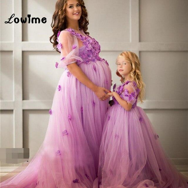 Largo Elegante Más Tamaño Púrpura Floral Prom Formal Vestido de ...