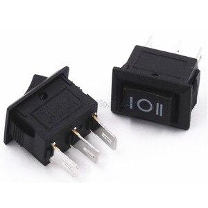Image 5 - 10 ชิ้น 3 Pin 3A 250 โวลต์ 10*15 มิลลิเมตรสีดำปุ่มสวิทช์ ON OFF AC 10X15 Mini Rocker สวิทช์ไฟ