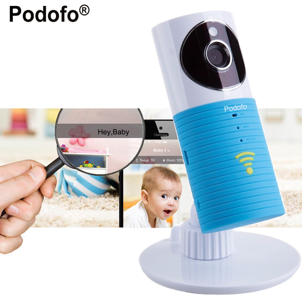 Podofo 720P HD mini wireless wifi baby monitor , ip camera Infant Baby clever dog video Security Two-way TOPS Audio Night Vision