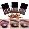 HUAMIANLI Brand Shimmer Matte Highlighter eye shadow Makeup Pigment Shimmer Eye Shadow Naked Smoky 12 colors eyeshadow palette