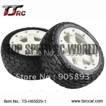 цена на 5B Front Highway-road Wheel Set With Nylon Super Star Wheel(TS-H85029-1) x 2pcs for 1/5 Baja 5B, SS  , wholesale and retail
