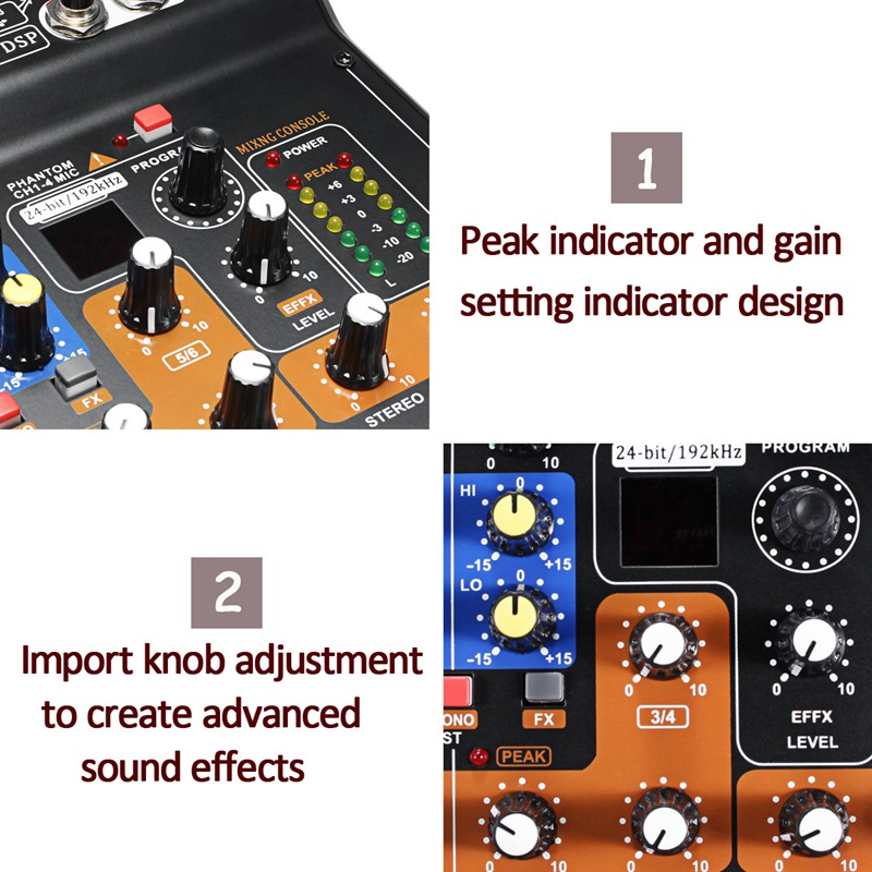 Professional Mini Portable Mixer 8 Channel Usb Mixing