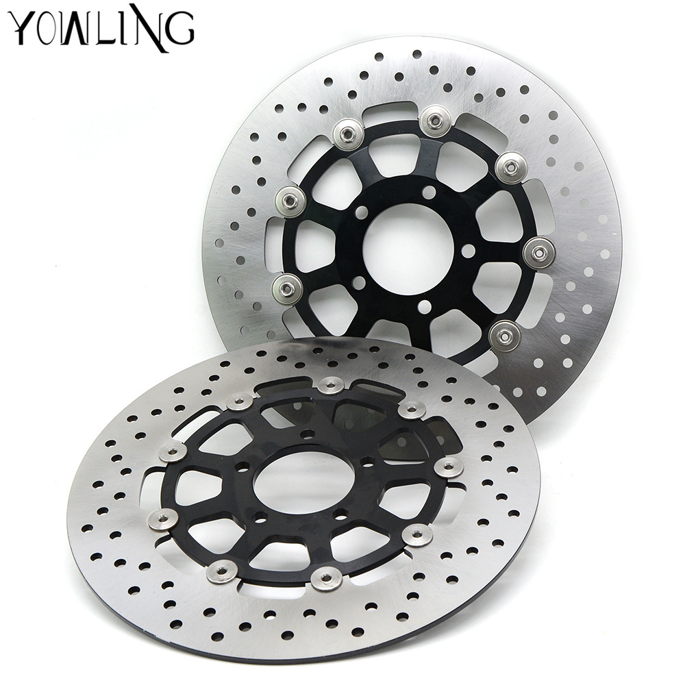 Motorcycle Parts Accessories Front Floating Brake Discs Rotor for SUZUKI GSXR1000 00-03 GSXR1300 HAYABUSA1300 1999-2007 starpad for lifan motorcycle lf150 10s kpr150 new front brake discs accessories