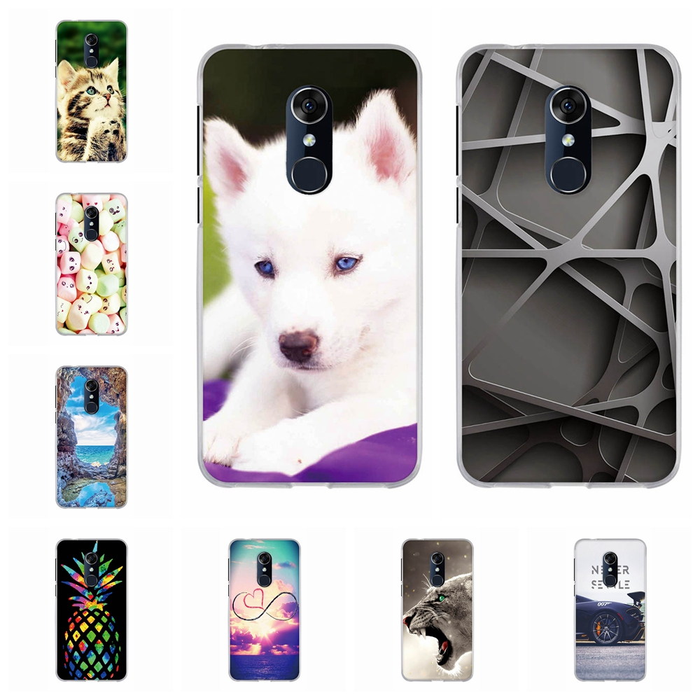 For Alcatel 3 3L Cover Slim Soft TPU Silicone 5034D 5052Y 5052D Case Candy Patterned Shell Funda