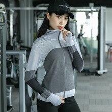 Женская куртка с капюшоном для бега, толстовка с длинным рукавом, толстовка с капюшоном для девушек, топы для йоги, спортивная куртка на молнии, одежда для фитнеса и спортзала